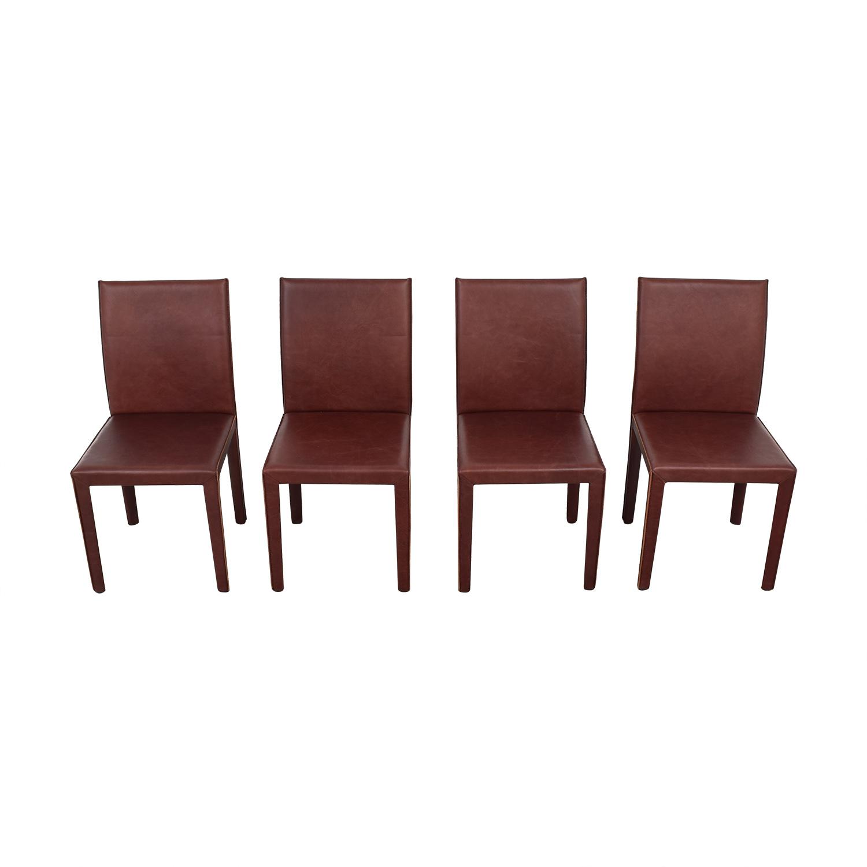 buy Crate & Barrel Folio Merlot Dining Chairs Crate & Barrel