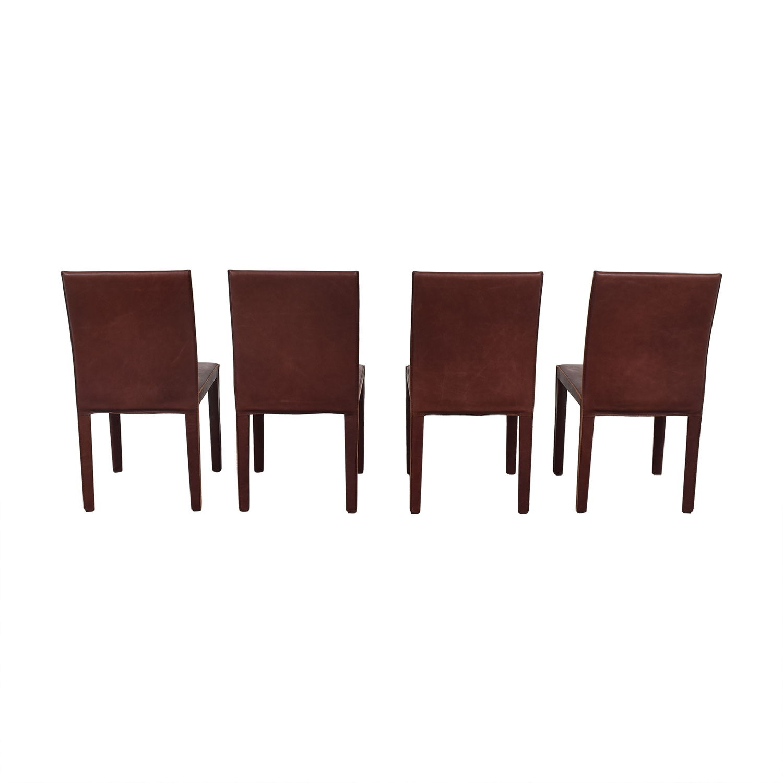 Crate & Barrel Crate & Barrel Folio Merlot Dining Chairs on sale