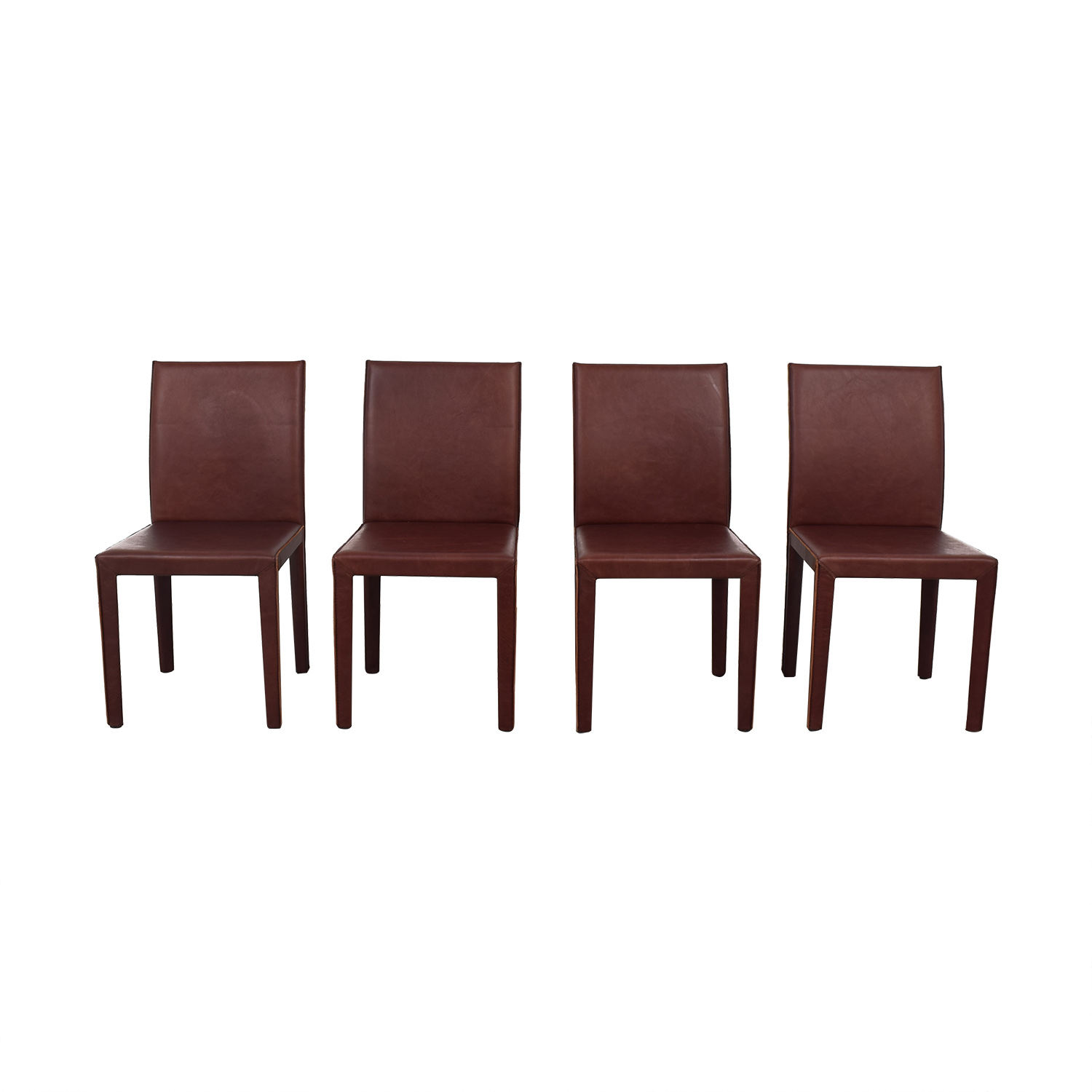 Crate & Barrel Crate & Barrel Folio Merlot Dining Chairs used