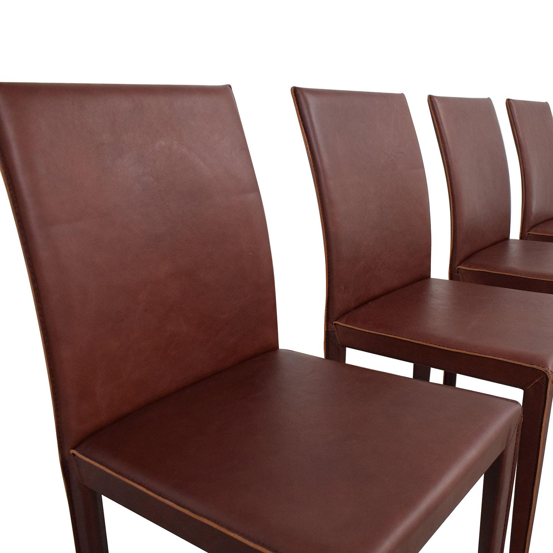 buy Crate & Barrel Crate & Barrel Folio Merlot Dining Chairs online