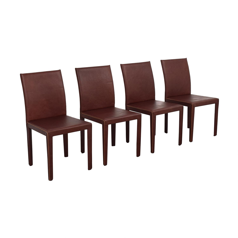 shop Crate & Barrel Folio Merlot Dining Chairs Crate & Barrel Dining Chairs