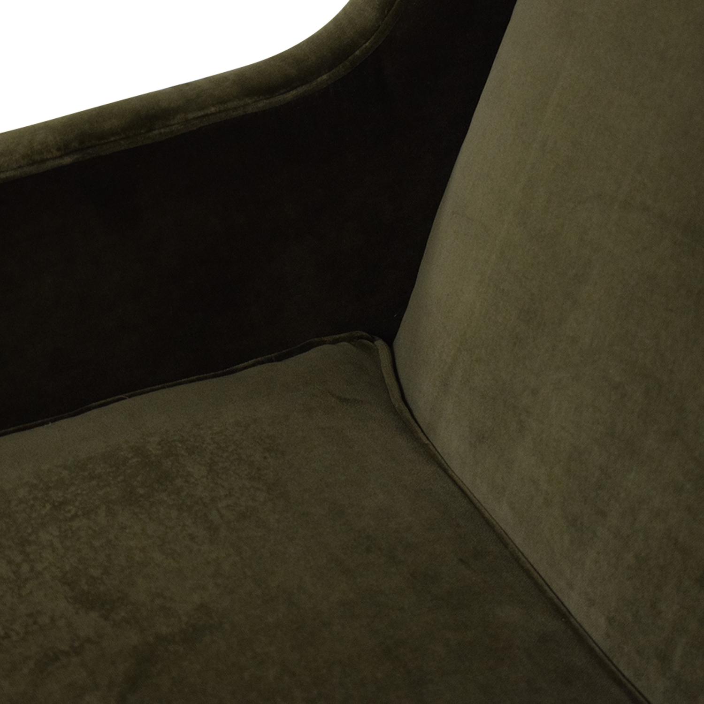 buy Crate & Barrel Luxe Wingback Chair Crate & Barrel