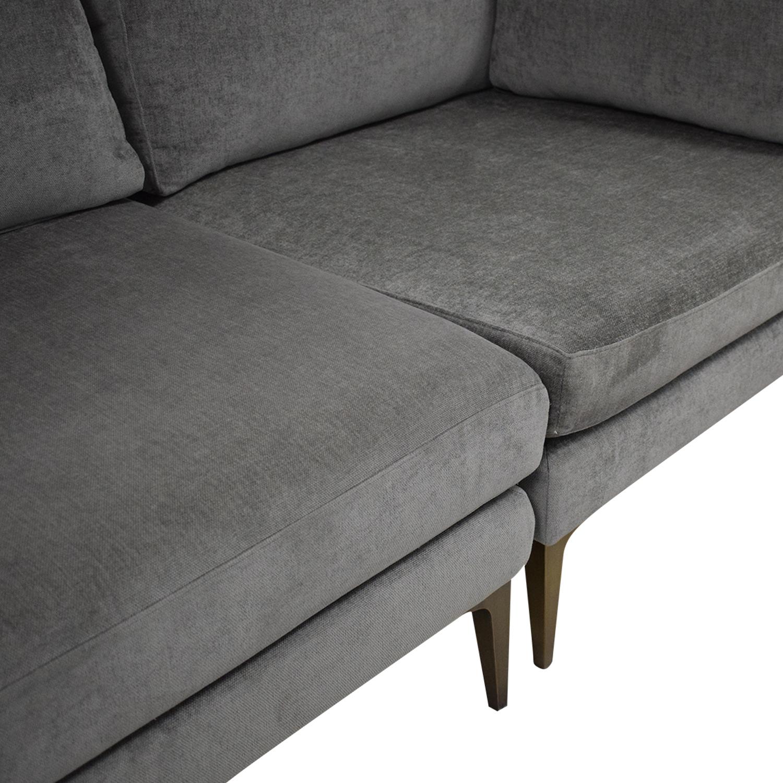 West Elm West Elm Andes Modular Sofa gray