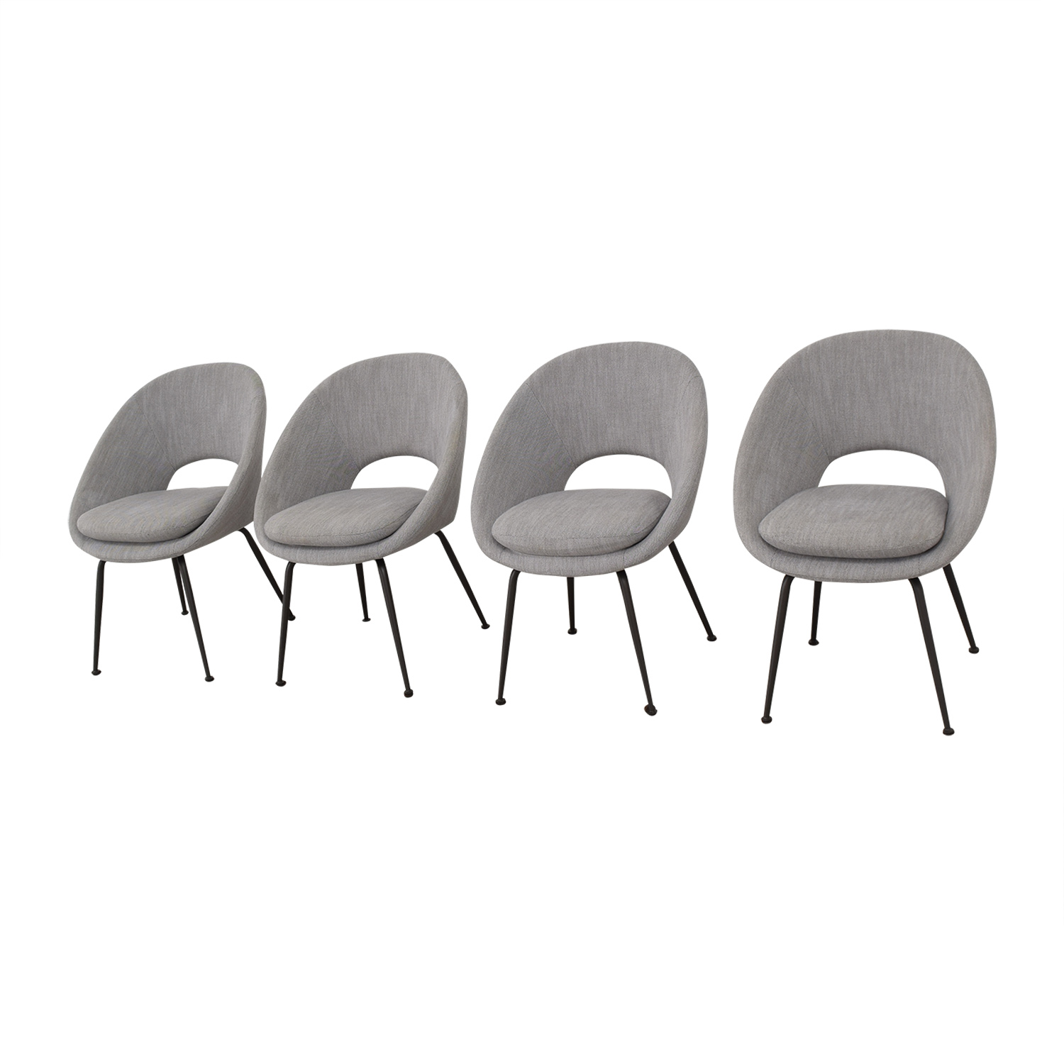 West Elm West Elm Orb Upholstered Dining Chairs pa