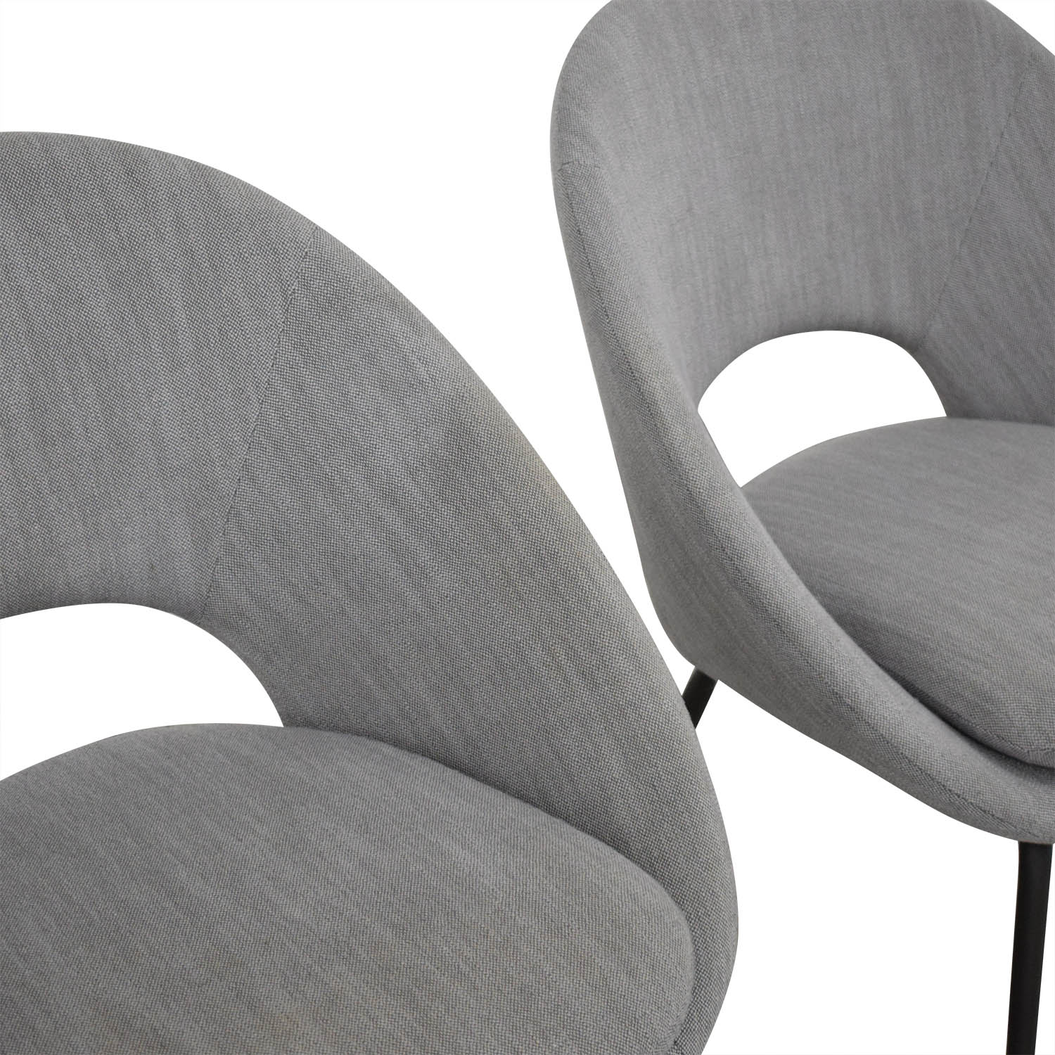 West Elm West Elm Orb Upholstered Dining Chairs discount