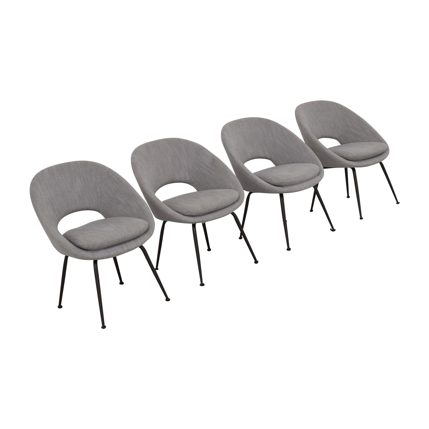 West Elm West Elm Orb Upholstered Dining Chairs used