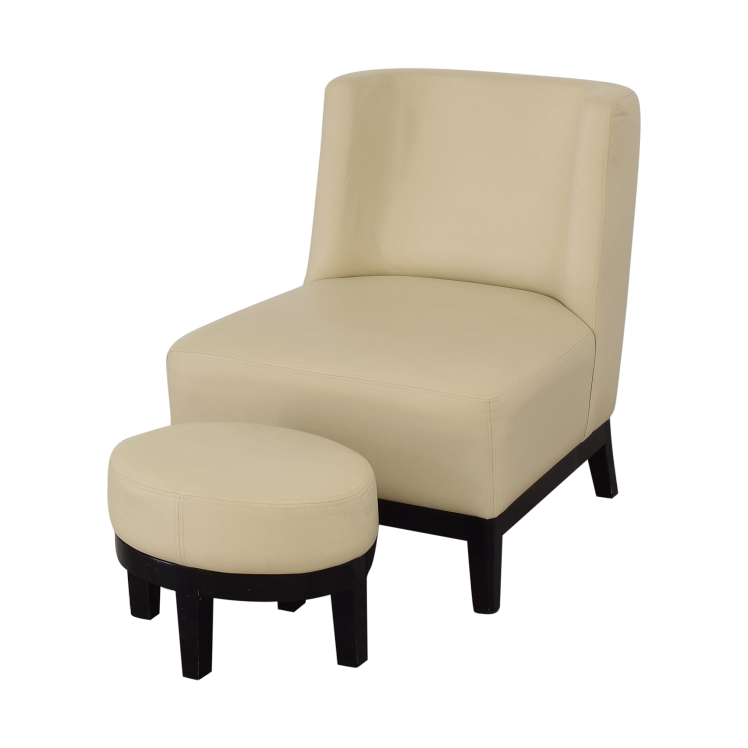 Armless Lounge Chair and Footstool / Accent Chairs