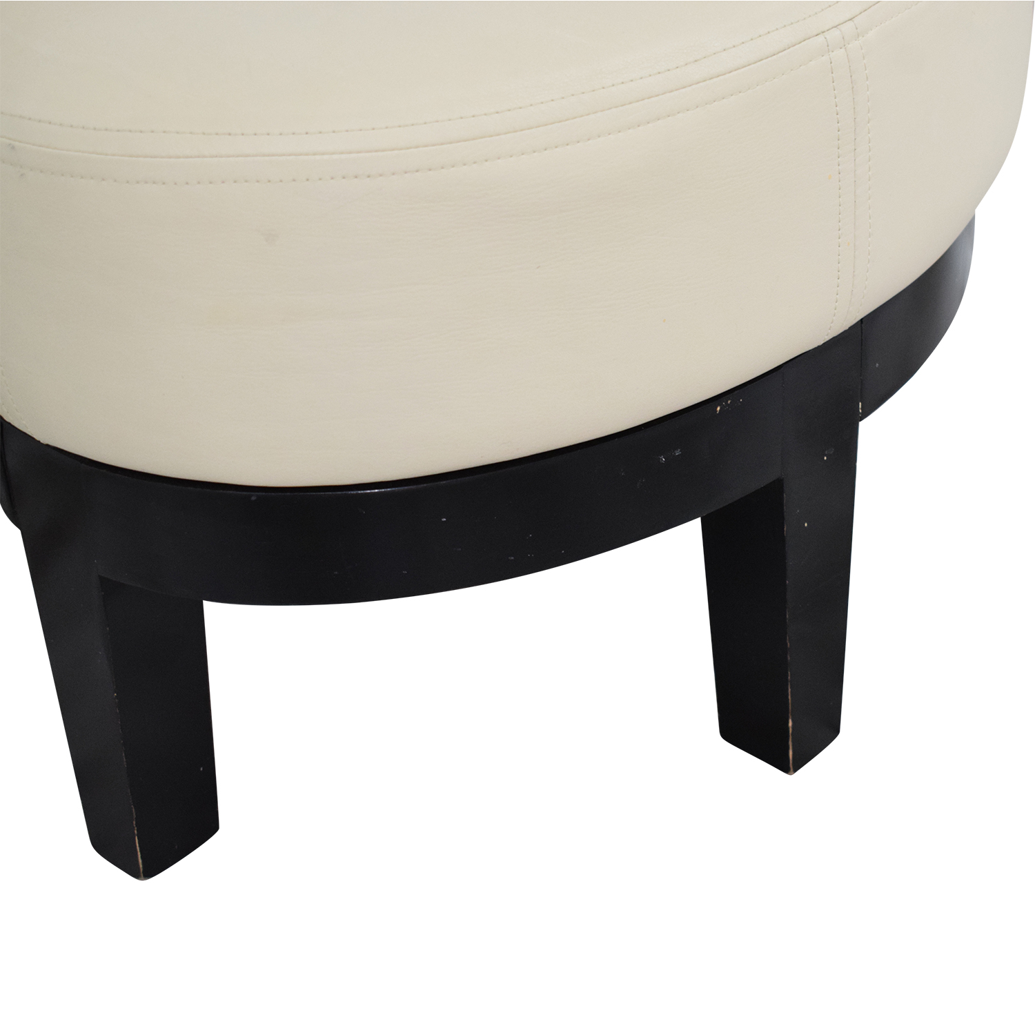 Armless Lounge Chair and Footstool on sale