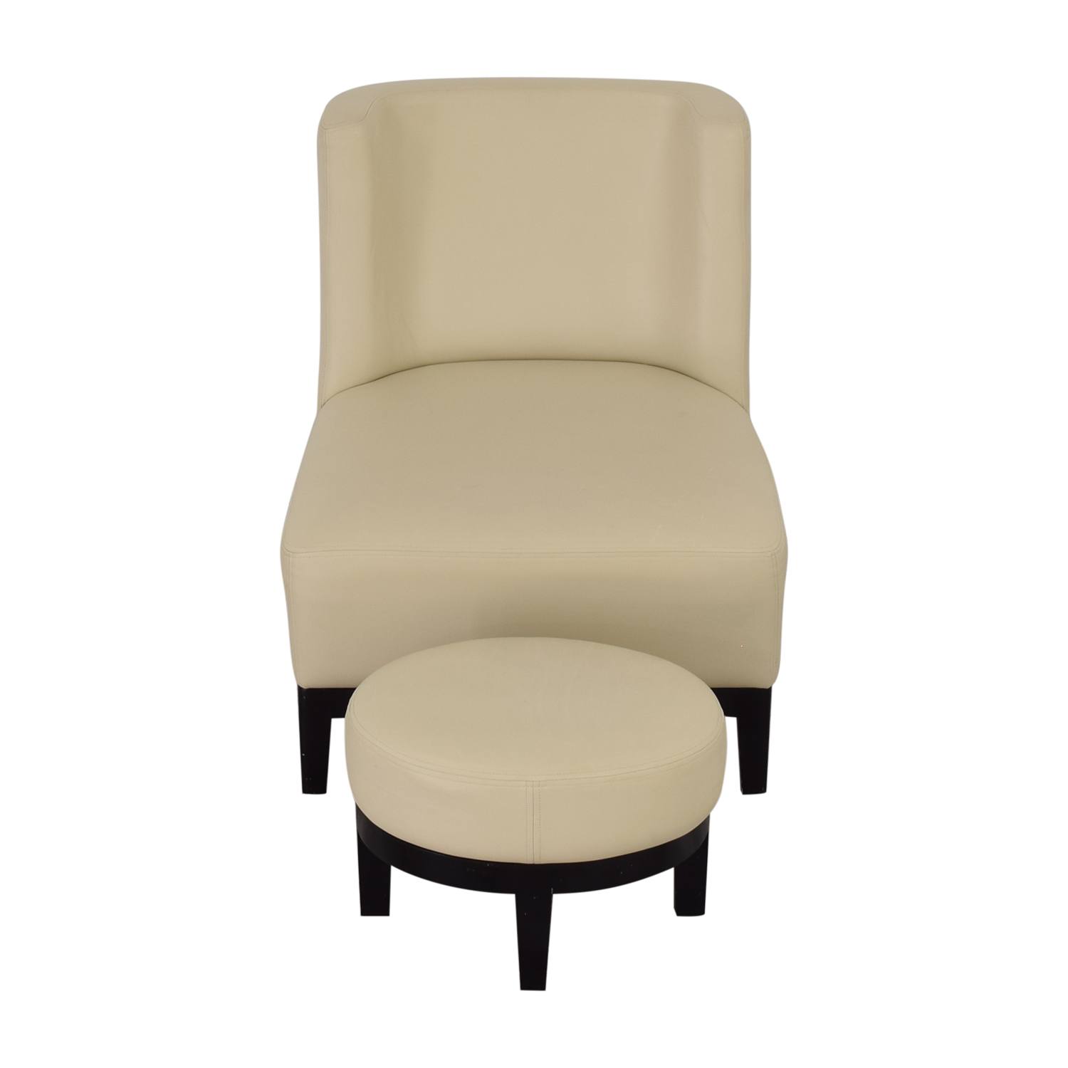 Armless Lounge Chair and Footstool Chairs