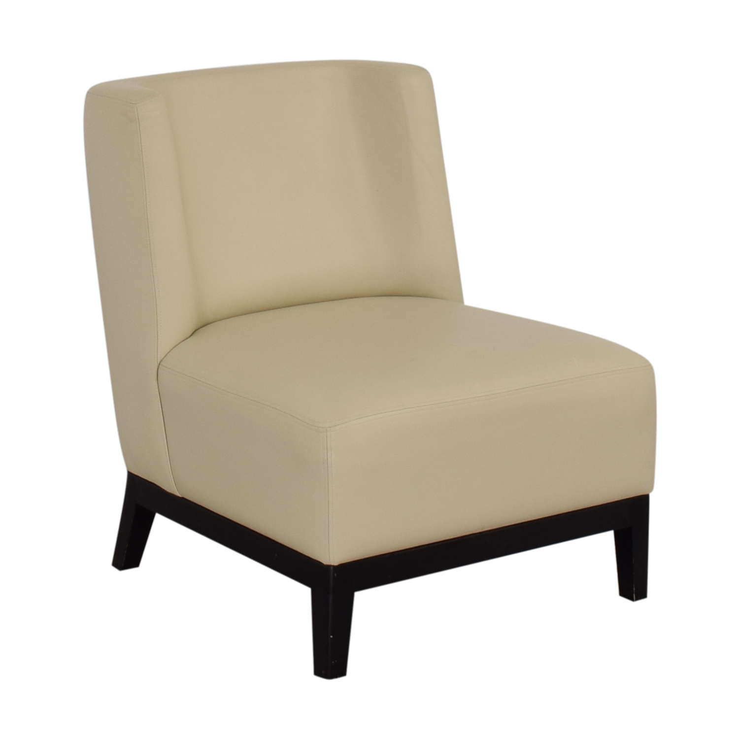 buy Armless Lounge Chair and Footstool  Accent Chairs