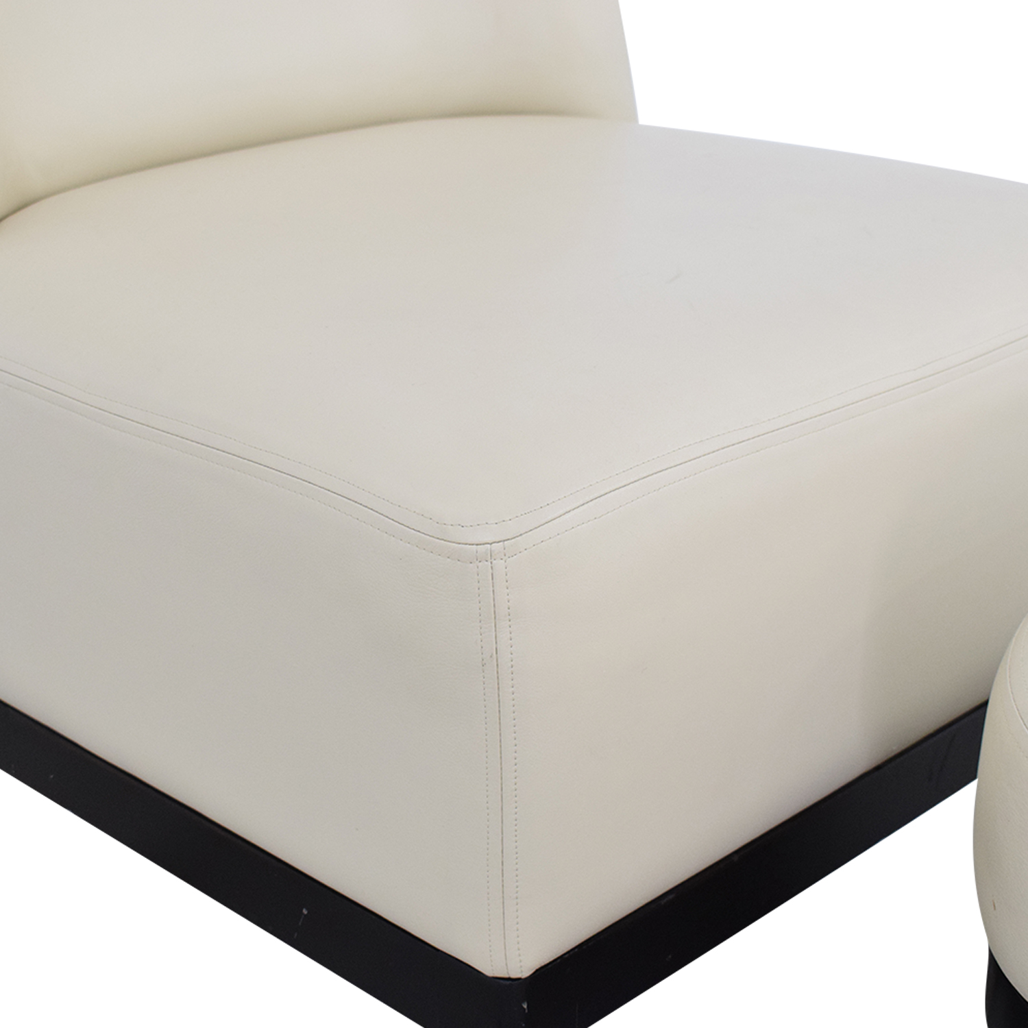 Armless Lounge Chair and Footstool nyc
