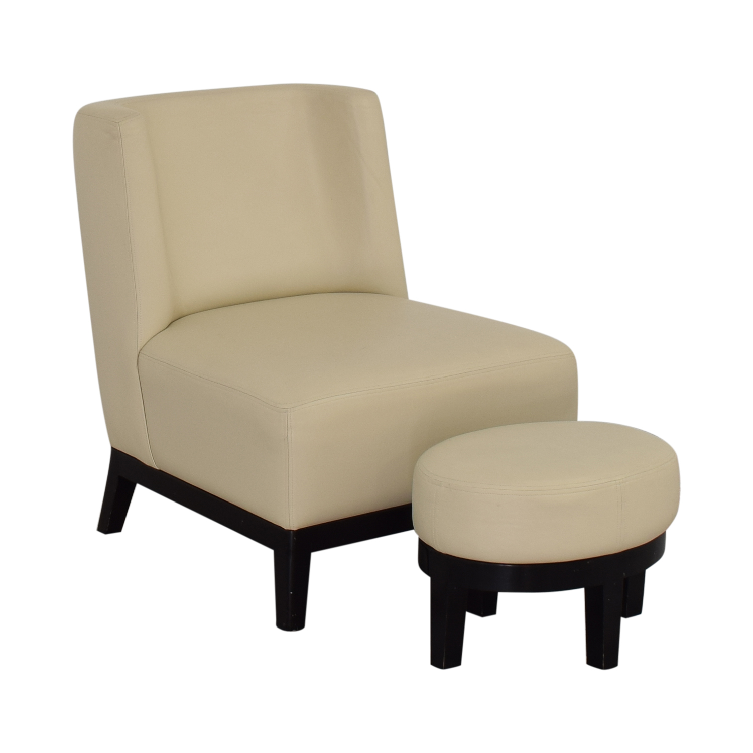 Armless Lounge Chair and Footstool discount