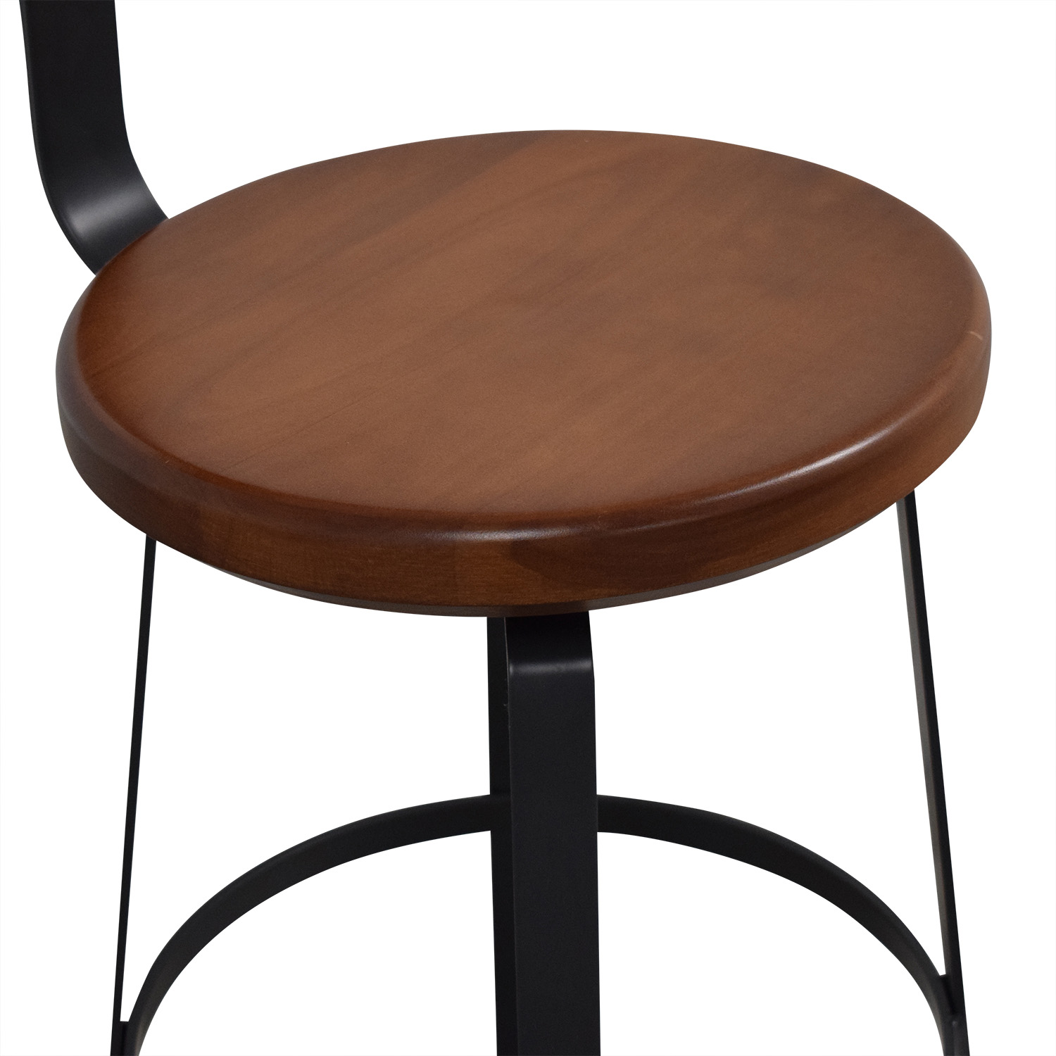 West Elm West Elm Adjustable Industrial Swivel Stool black and brown