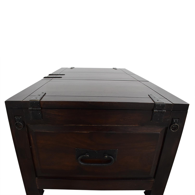 Crate & Barrel Crate & Barrel Rectangular Storage Trunk on sale