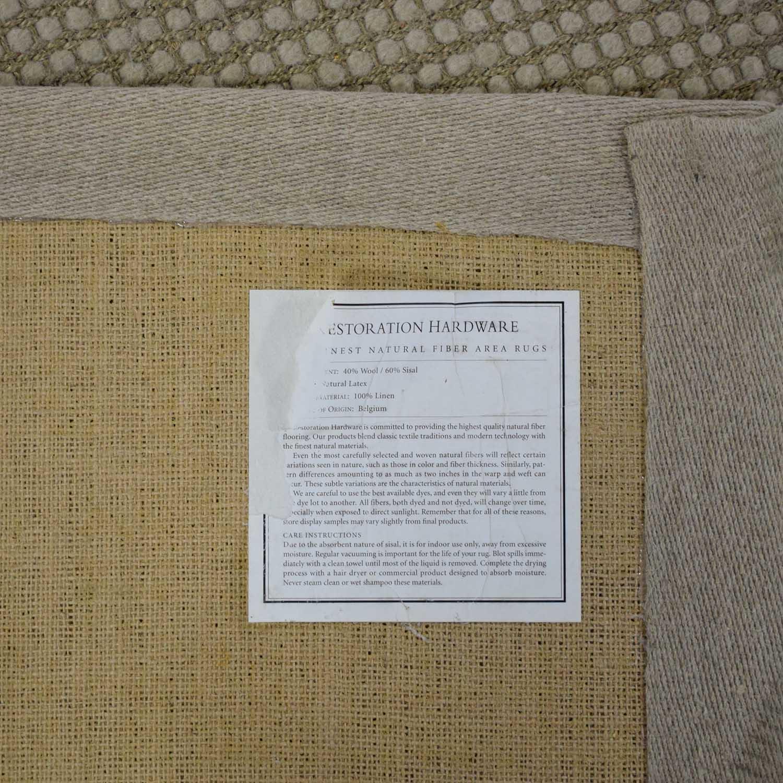 Restoration Hardware Restoration Hardware Belgian Looped Wool Sisal Rug dimensions