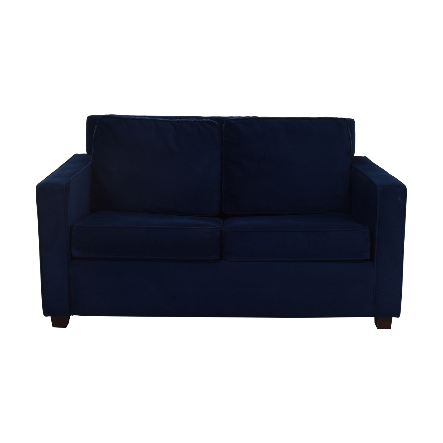 West Elm West Elm Henry Twin Sleeper Sofa dark blue