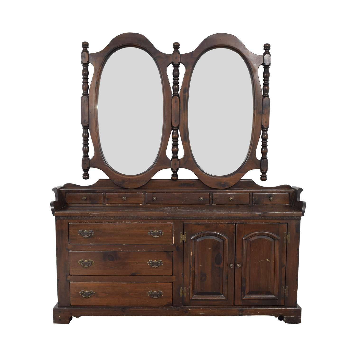 Antique Dresser with Twin Mirrors on sale