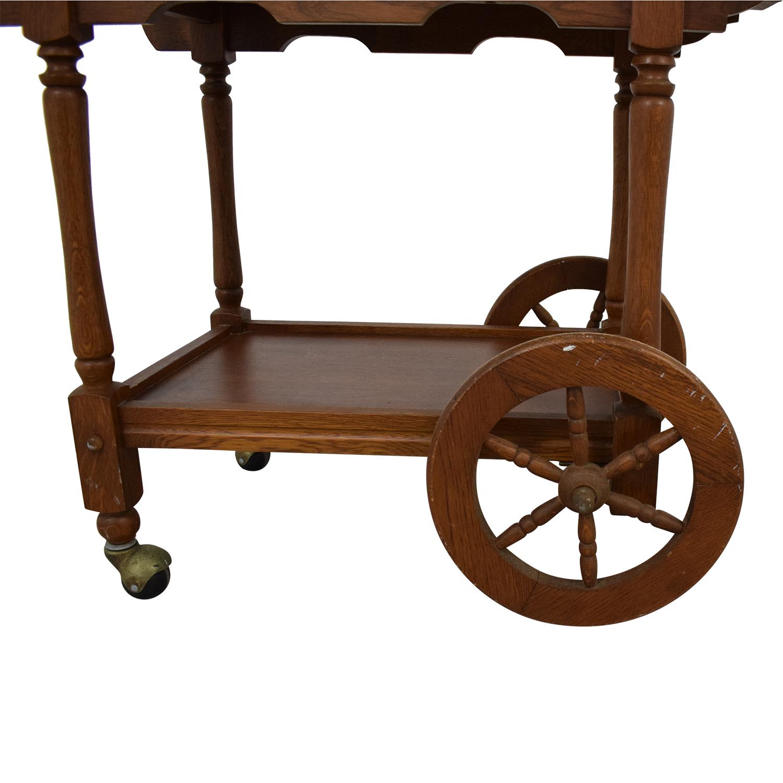 buy Custom Amish Hardwood Tea Cart  Utility Tables