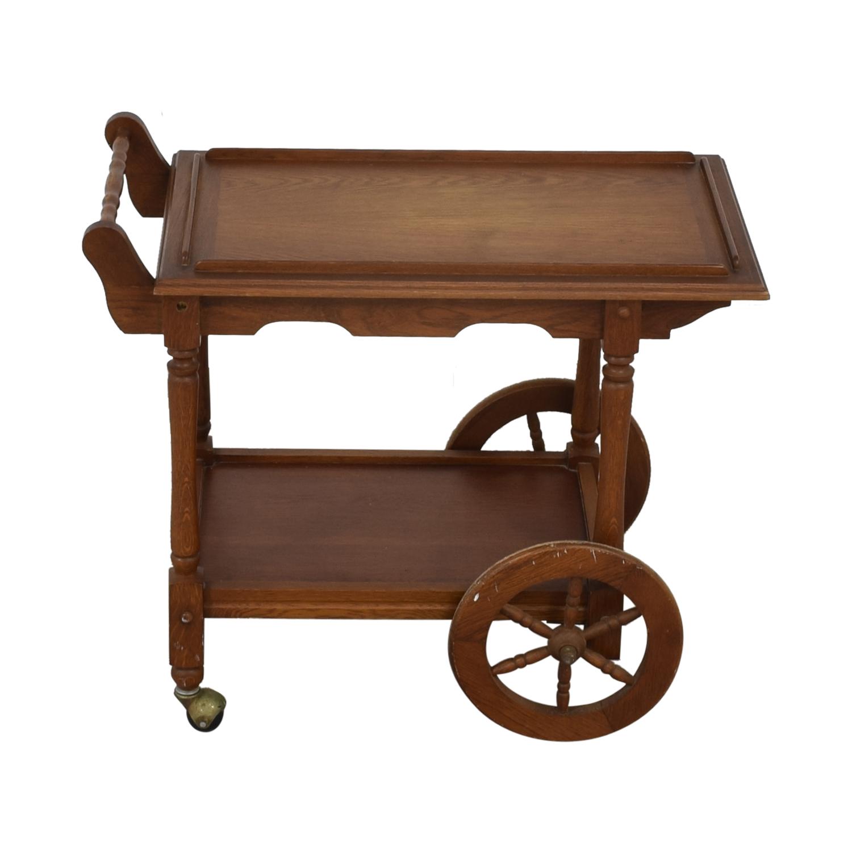 Custom Amish Hardwood Tea Cart sale