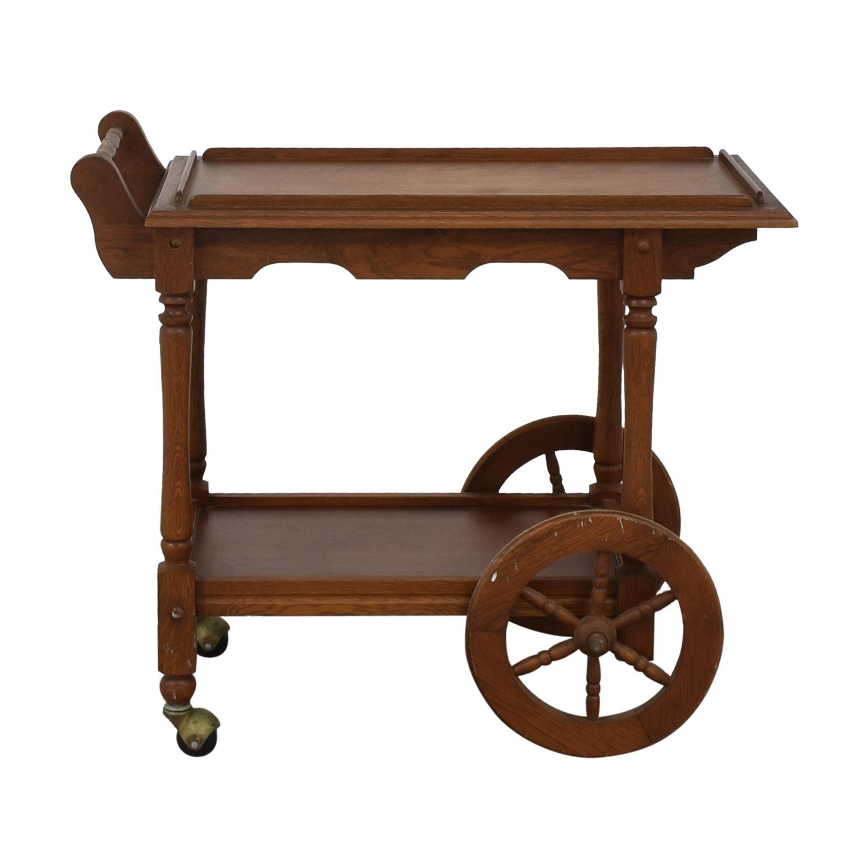 shop Custom Amish Hardwood Tea Cart