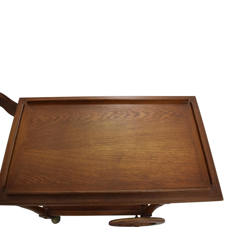 Custom Amish Hardwood Tea Cart price