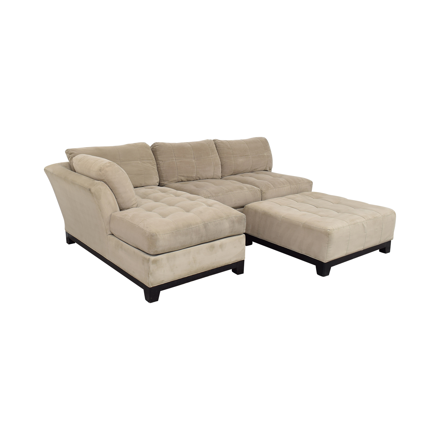 Cindy Crawford Home Cindy Crawford Home Microfiber Sectional with Ottoman used