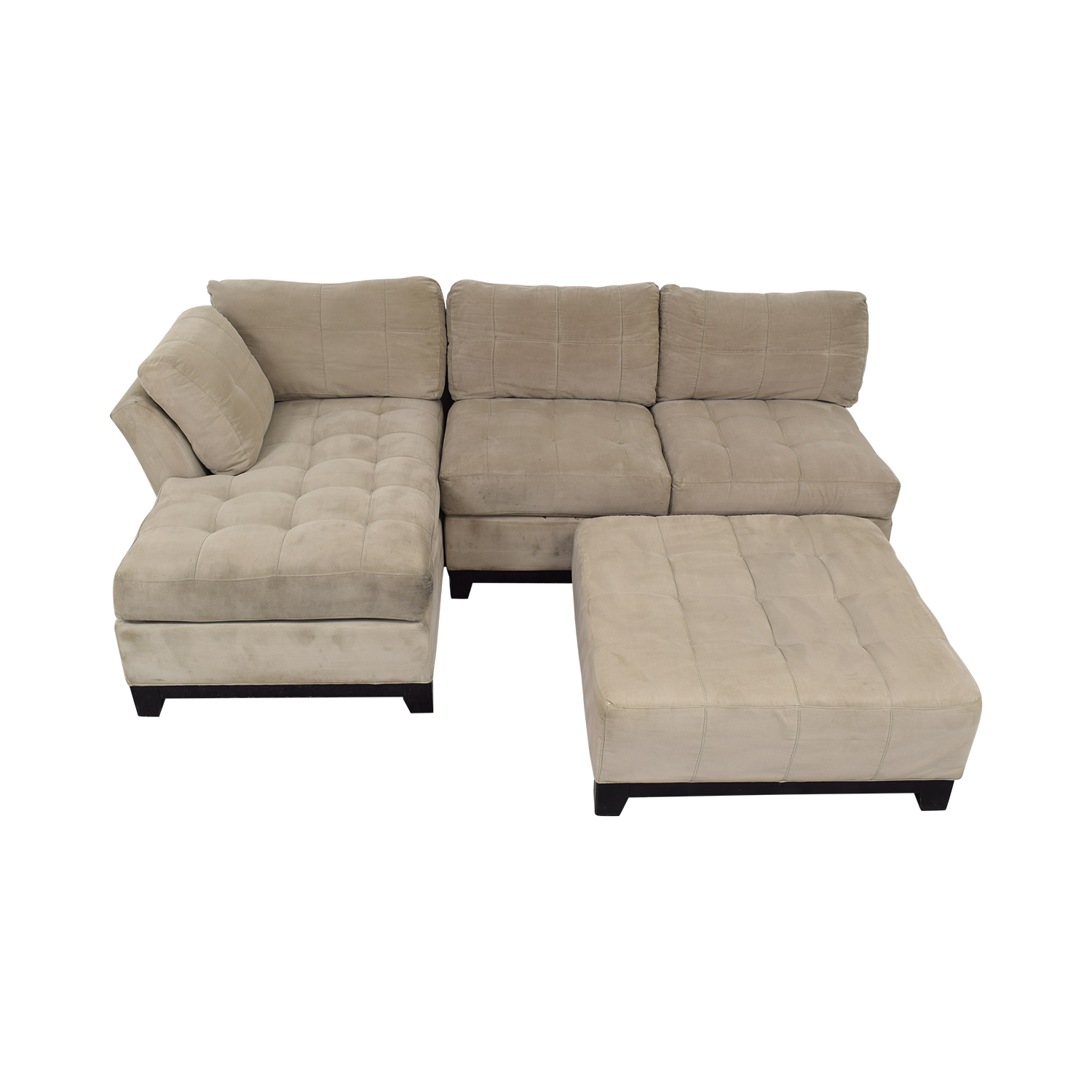 Cindy Crawford Home Cindy Crawford Home Microfiber Sectional with Ottoman dimensions
