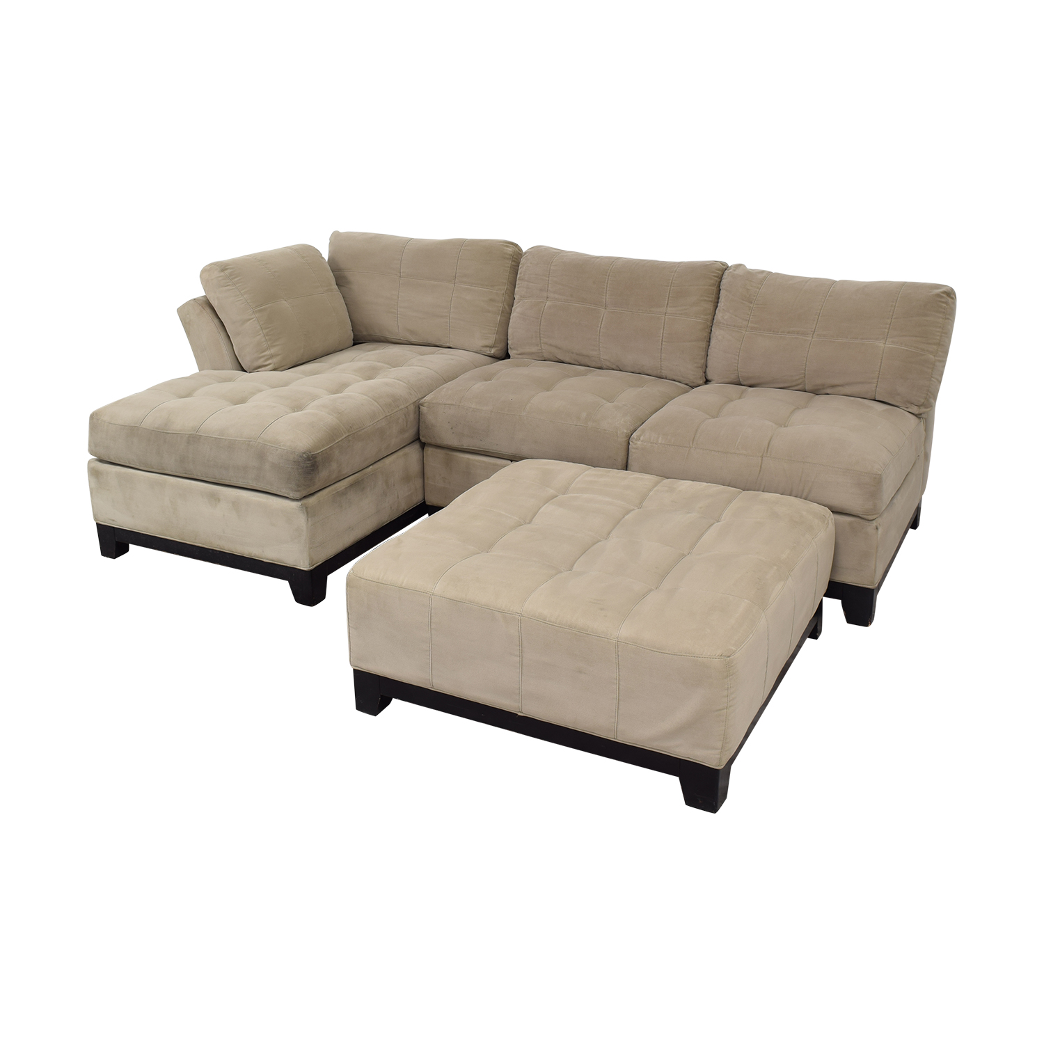 Cindy Crawford Home Cindy Crawford Home Microfiber Sectional with Ottoman Sofas