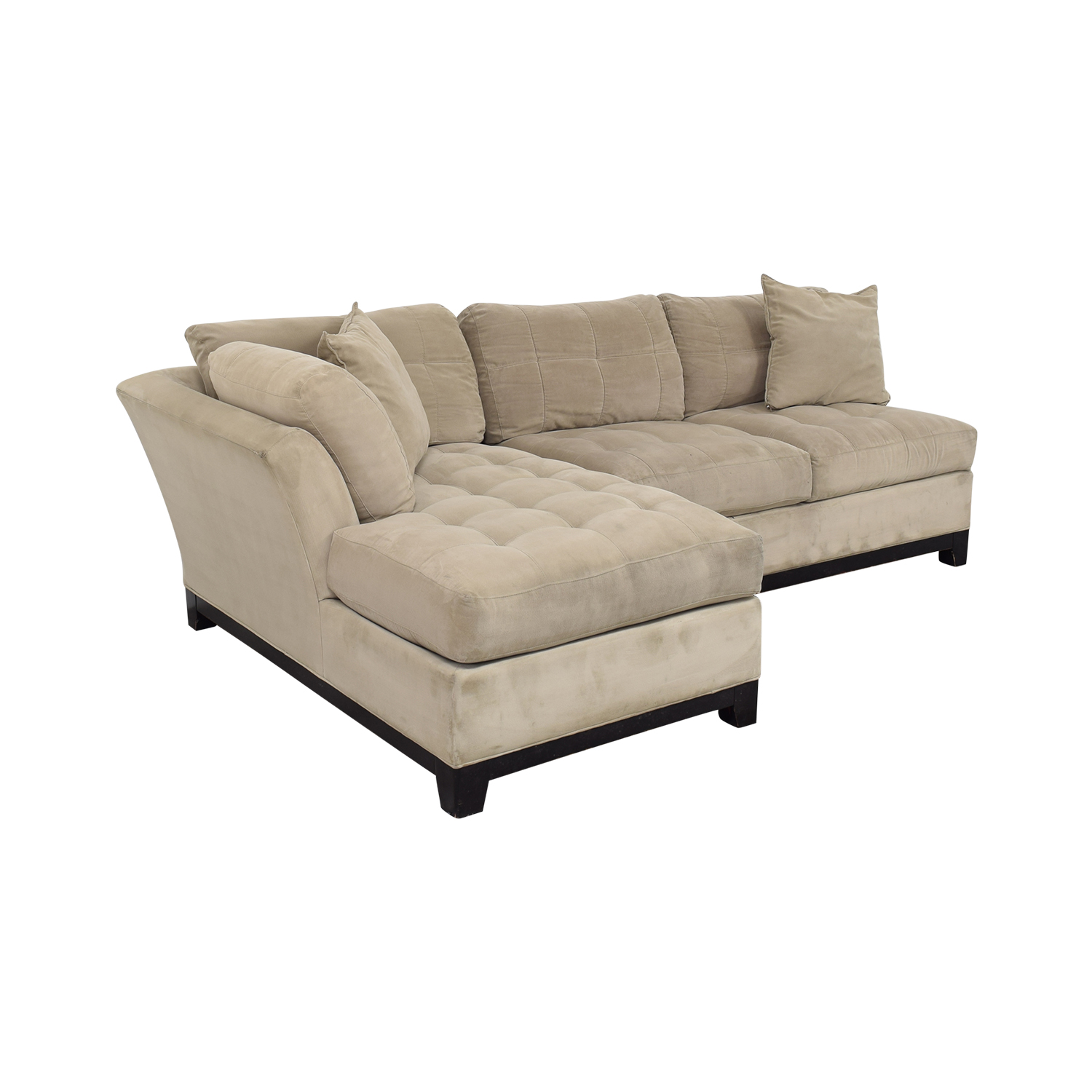 buy Cindy Crawford Home Microfiber Sectional with Ottoman Cindy Crawford Home Sofas
