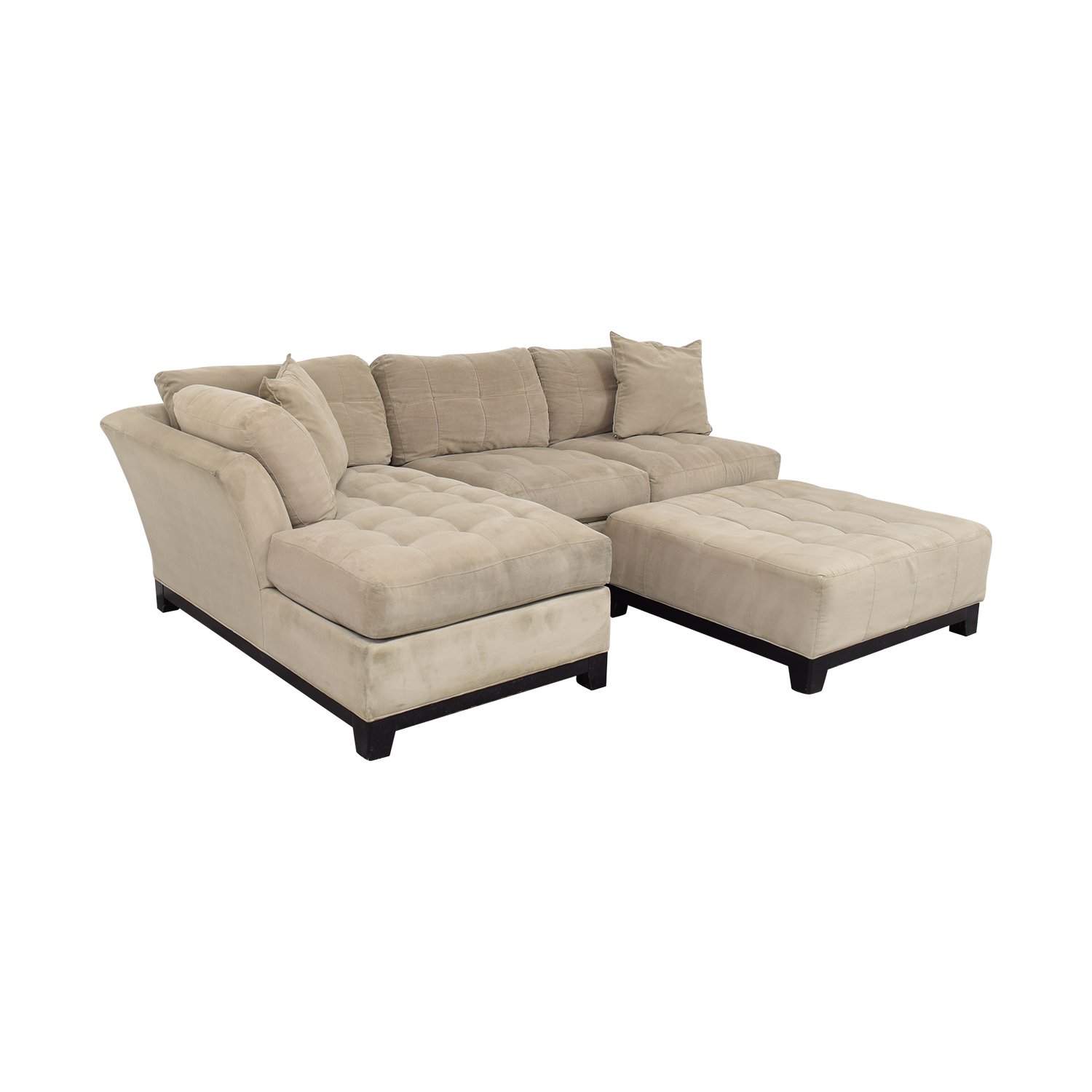 Cindy Crawford Home Cindy Crawford Home Microfiber Sectional with Ottoman pa