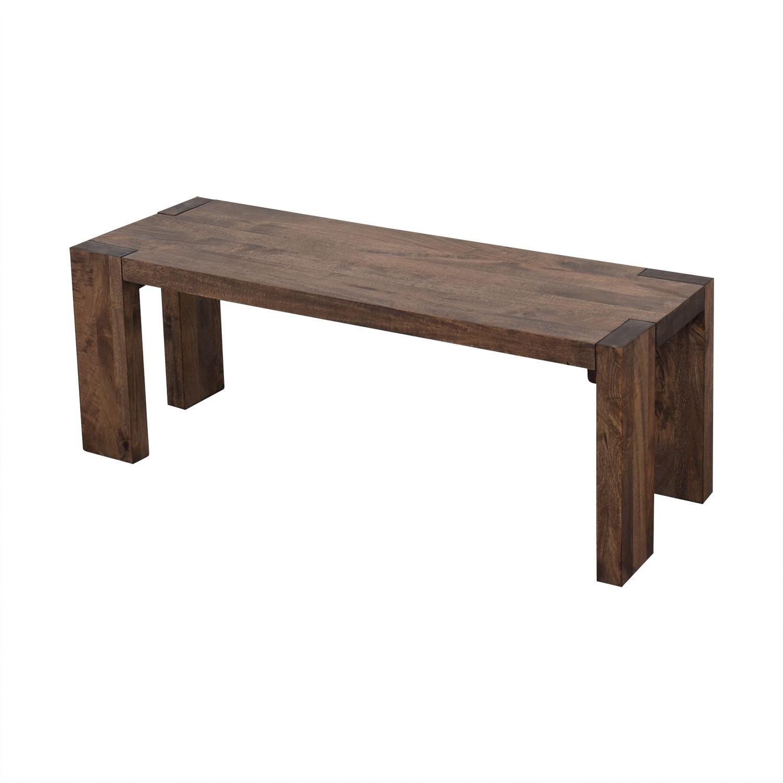 CB2 CB2 Blox Dining Bench on sale