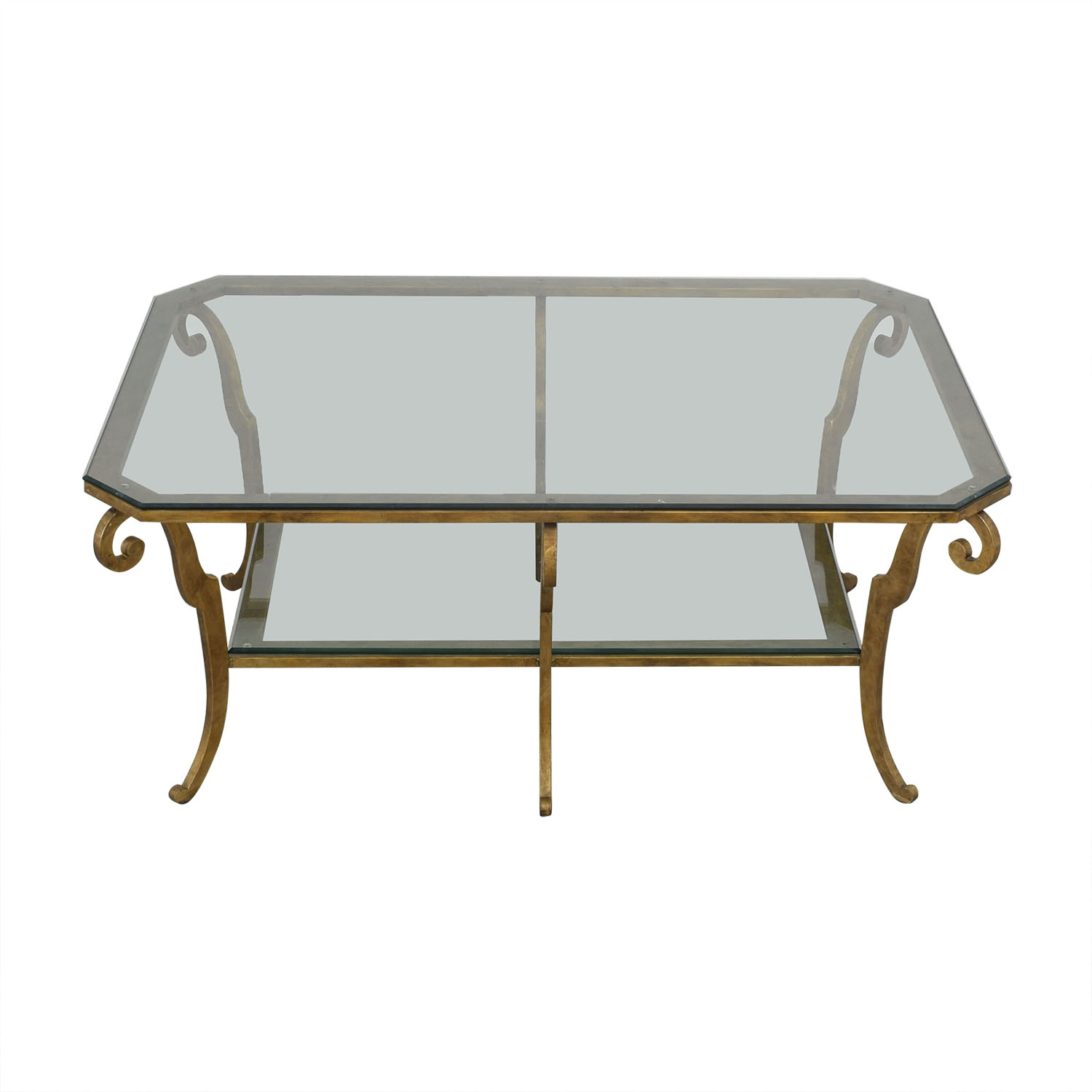 shop Ethan Allen Two Tiered Coffee Table Ethan Allen Coffee Tables