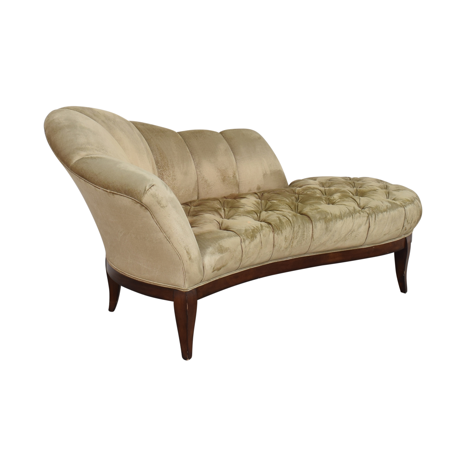 Schnadig Schnadig Pleated Tufted Traditional Chaise nyc