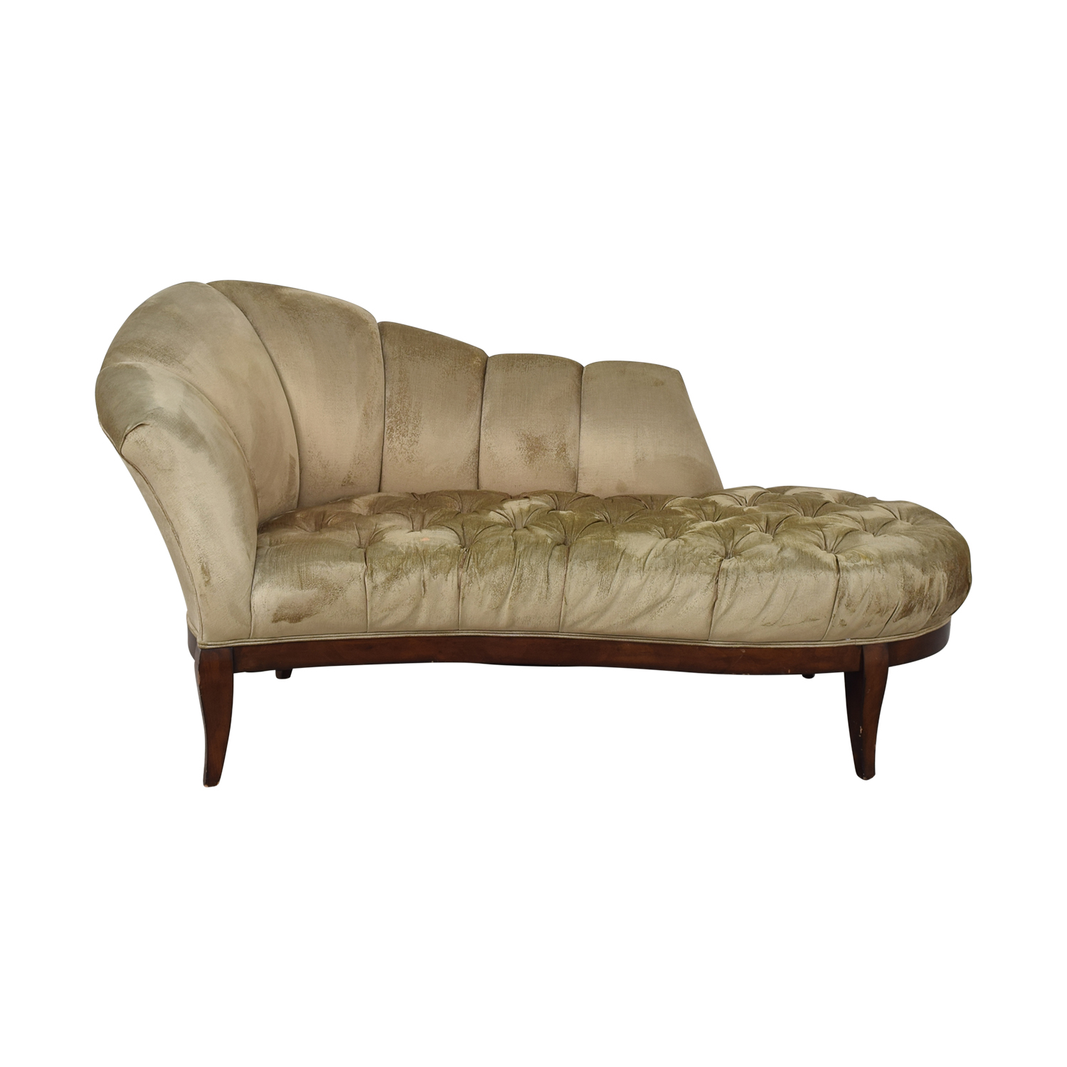 Schnadig Schnadig Pleated Tufted Traditional Chaise for sale
