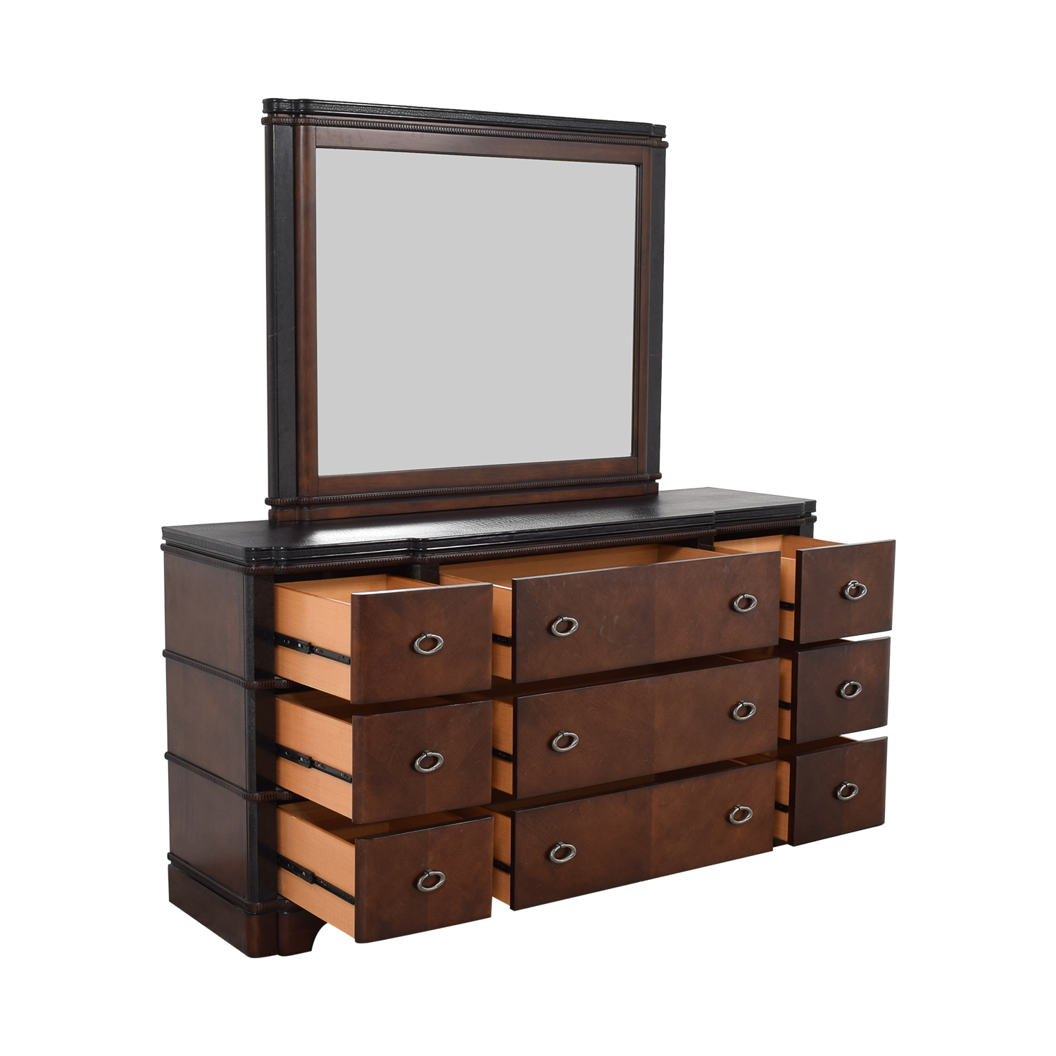 shop Raymour & Flanigan Raymour & Flanigan Dundee Bedroom Dresser with Mirror online