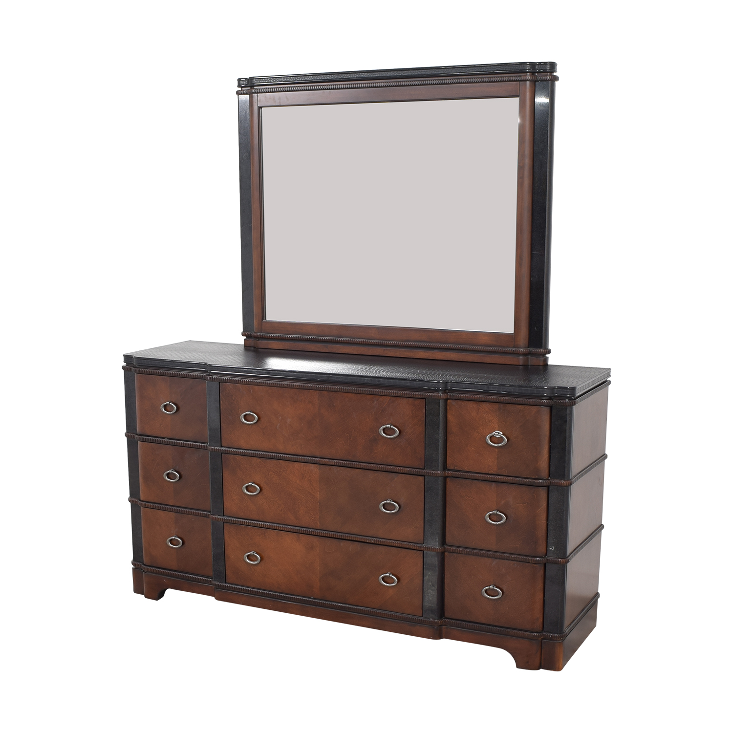 Raymour & Flanigan Raymour & Flanigan Dundee Bedroom Dresser with Mirror Storage