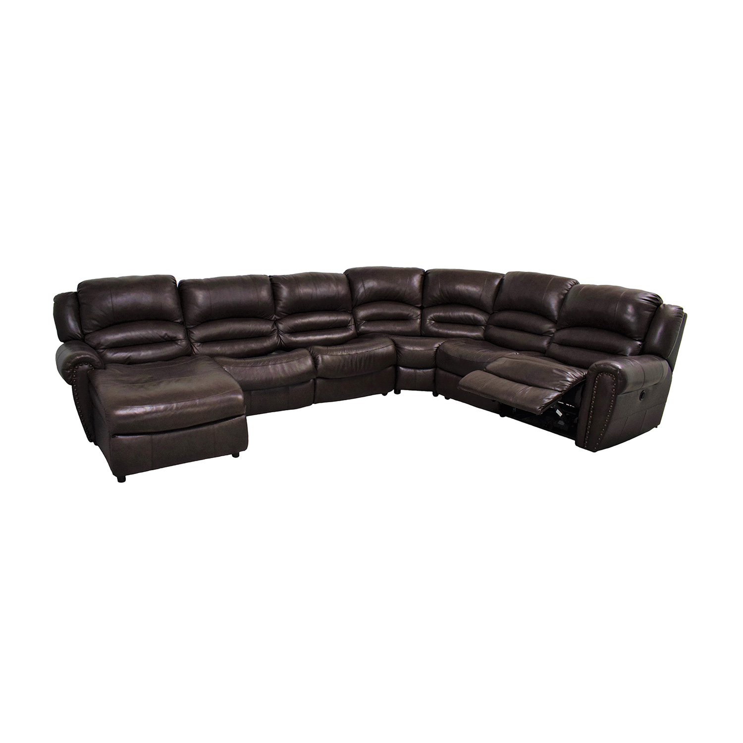 buy Raymour & Flanigan Chaise Recliner Sectional Sleeper Sofa Raymour & Flanigan