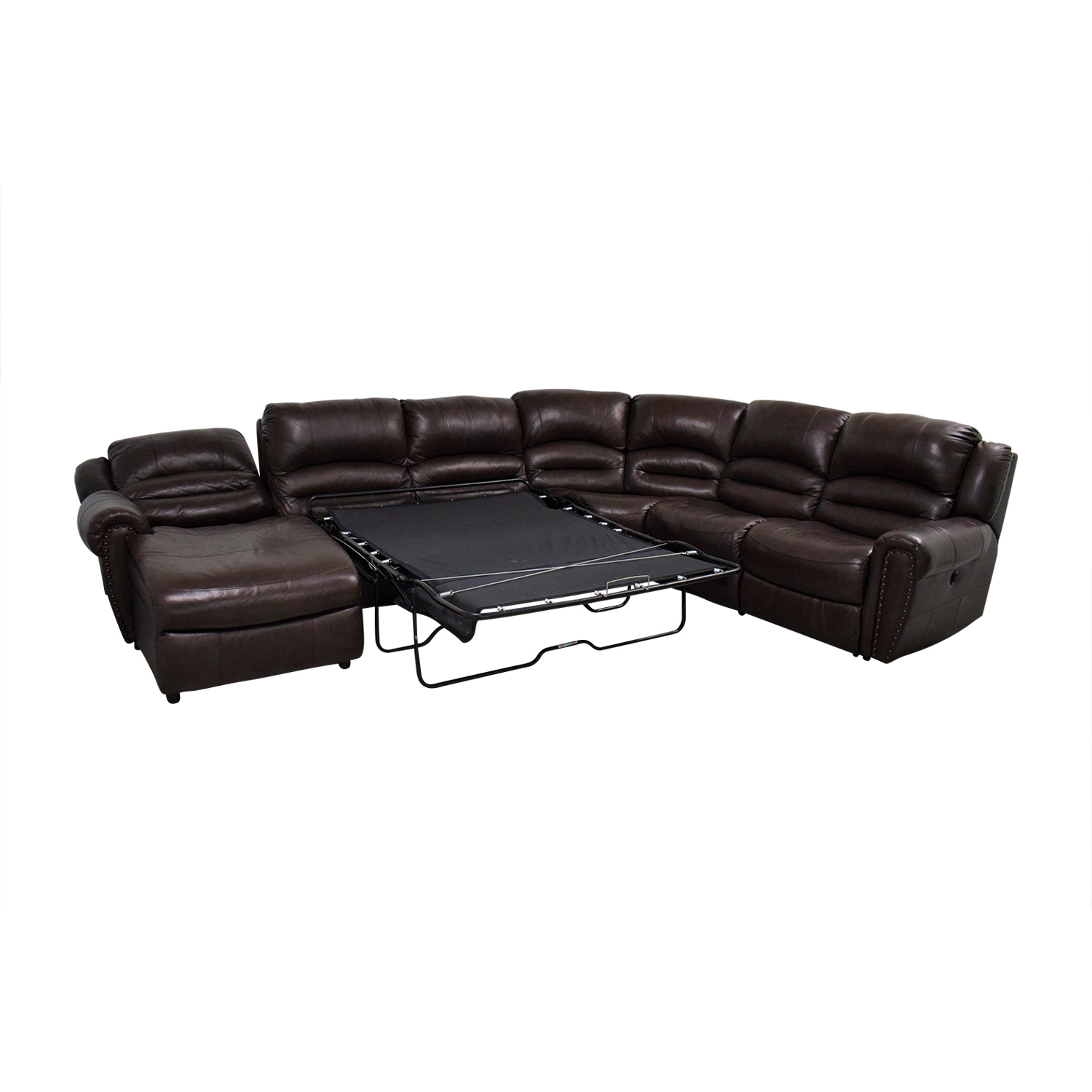 Raymour & Flanigan Raymour & Flanigan Chaise Recliner Sectional Sleeper Sofa second hand