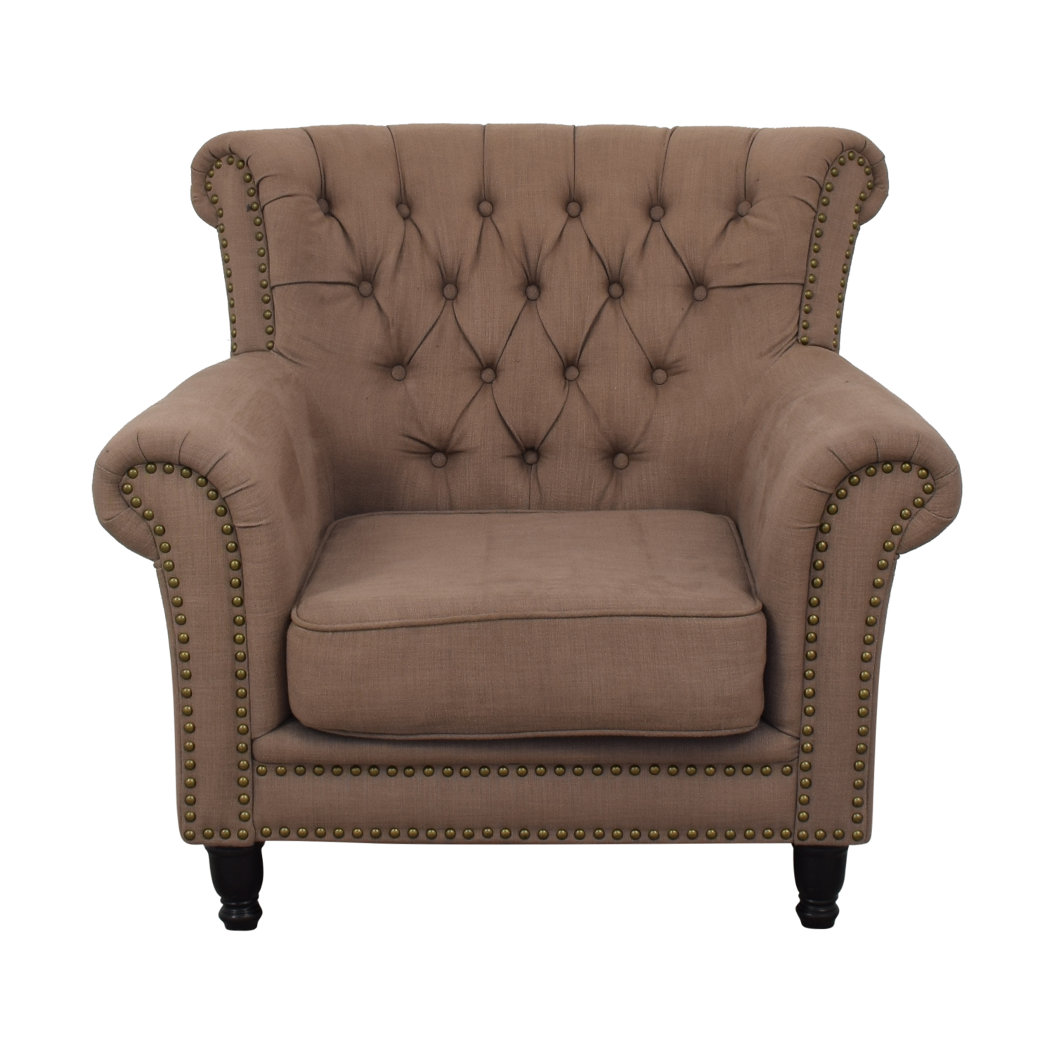 ABC Carpet & Home ABC Carpet & Home Tufted Nailhead Arm Chair pa