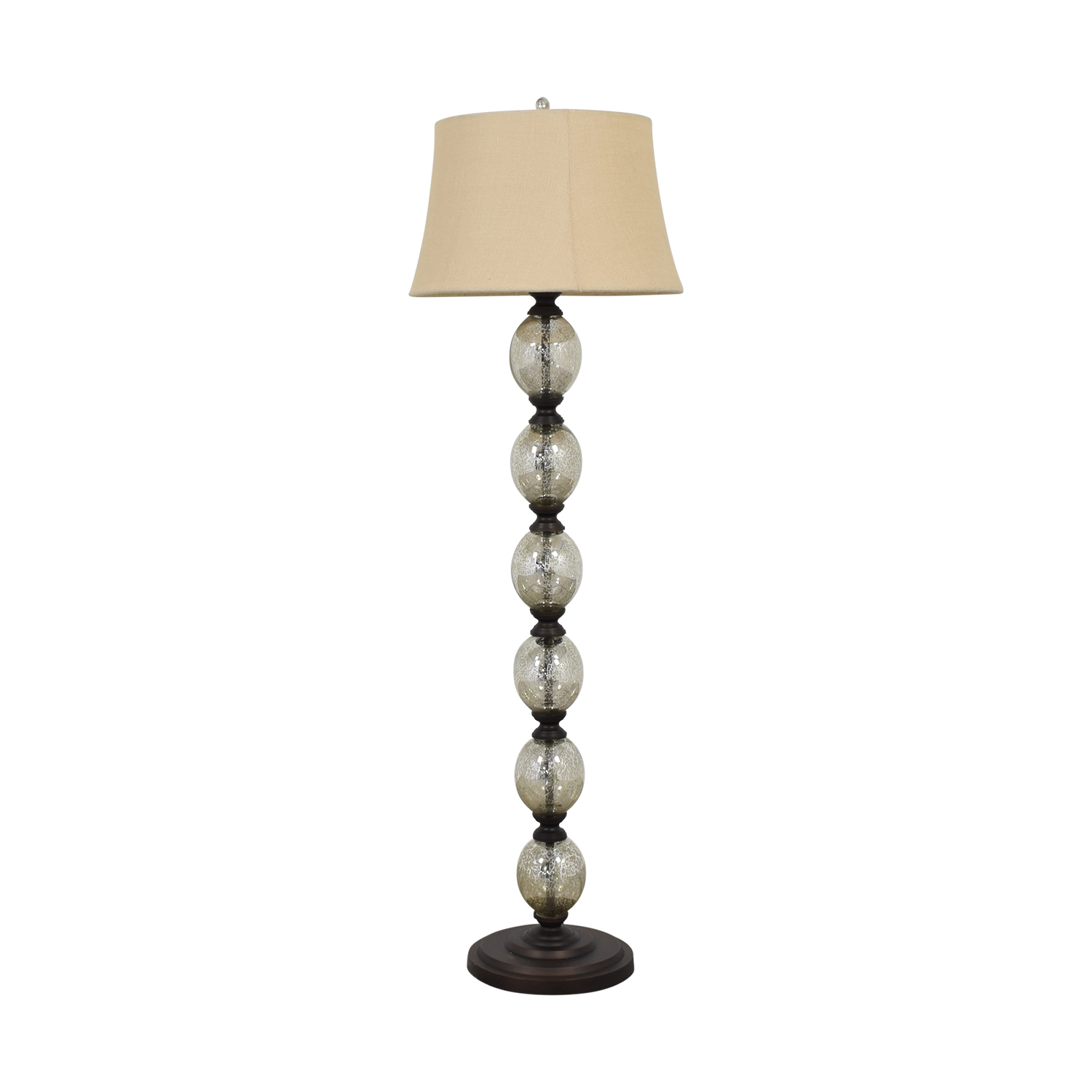 buy Pottery Barn Pottery Barn Stacked Mercury Glass Floor Lamp online