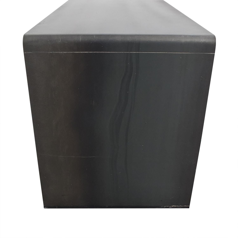 Custom Modern Steel Bench on sale