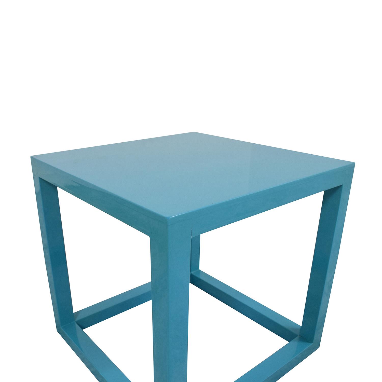 Jonathan Adler Jonathan Adler Lacquer Cube End Table blue