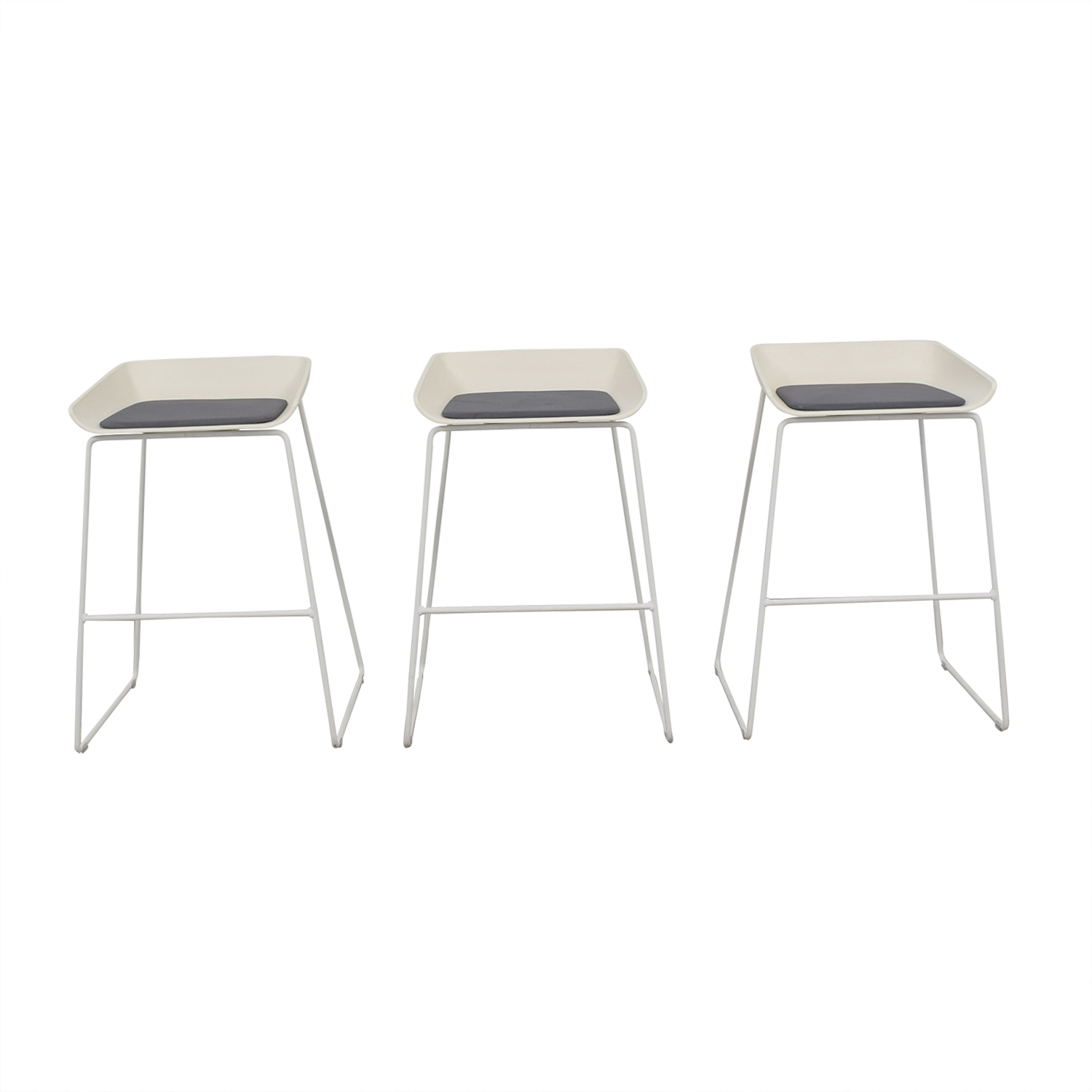 Steelcase Steelcase Scoop Modern Stools white & grey
