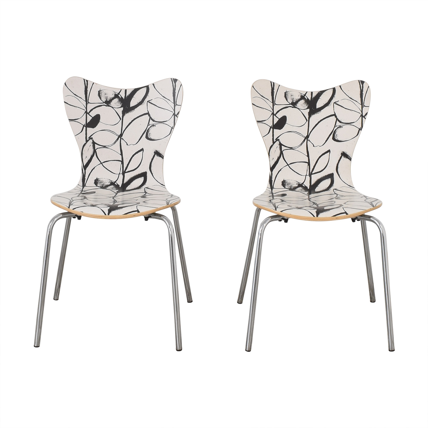 West Elm West Elm Decorative Dining Chairs black and white