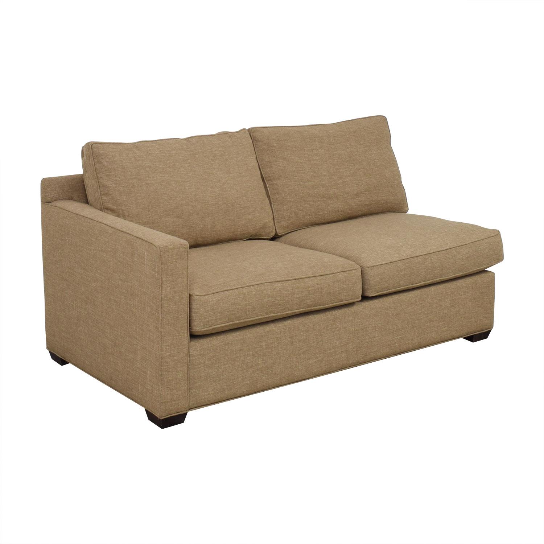 shop Crate & Barrel Crate & Barrel Davis Left Arm Apartment Sofa online
