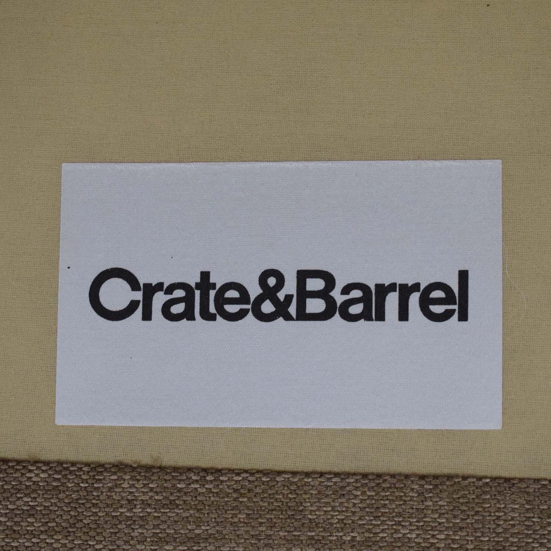 Crate & Barrel Crate & Barrel Davis Left Arm Apartment Sofa on sale