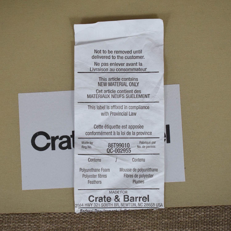 buy Crate & Barrel Davis Armless Loveseat Crate & Barrel