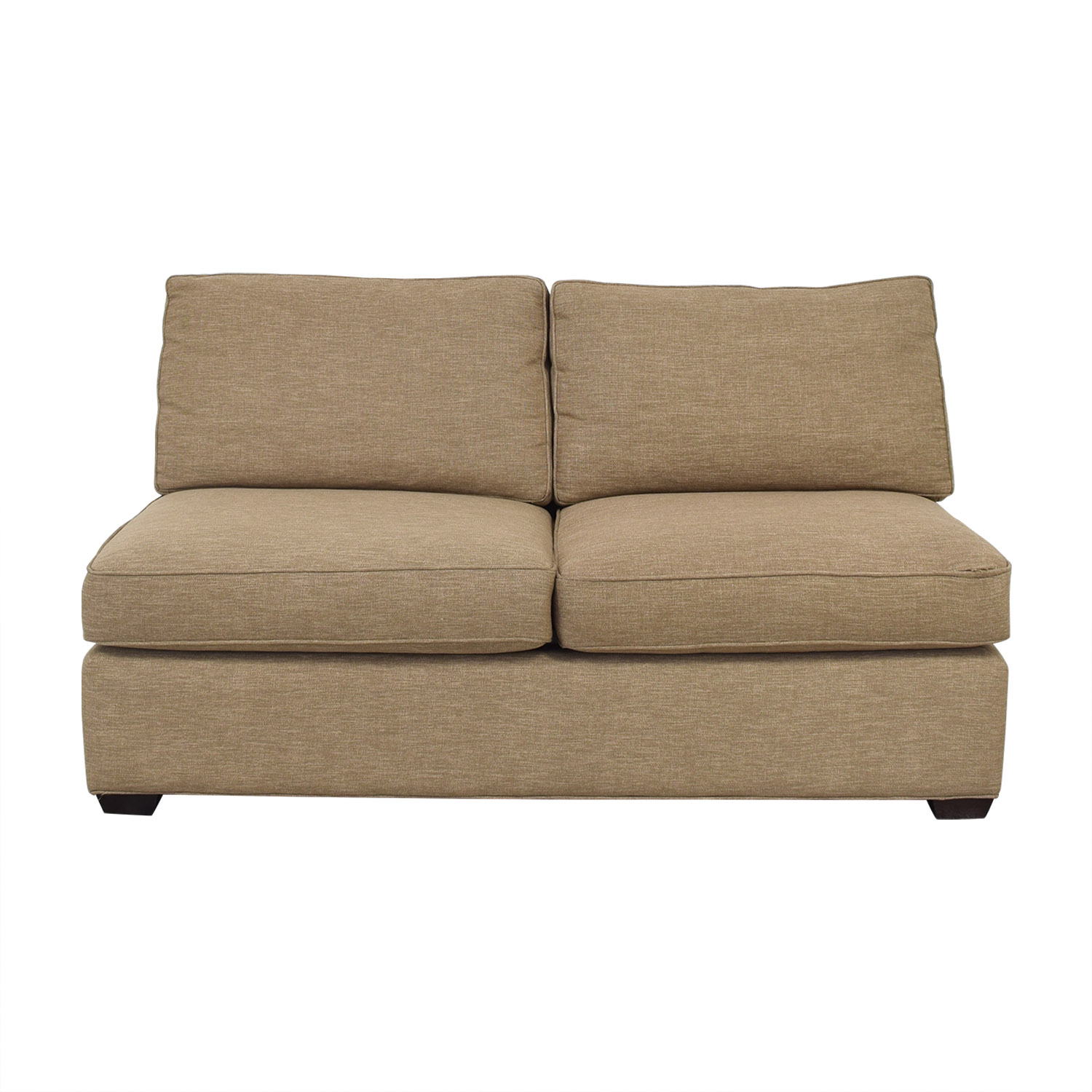 Crate & Barrel Crate & Barrel Davis Armless Loveseat on sale
