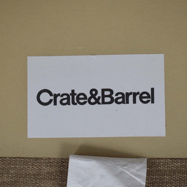 Crate & Barrel Crate & Barrel Davis Armless Loveseat nyc