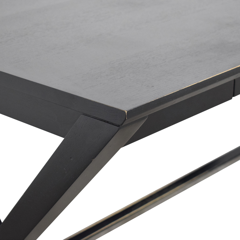 Crate & Barrel Spotlight Ebony X-Leg Desk Crate & Barrel